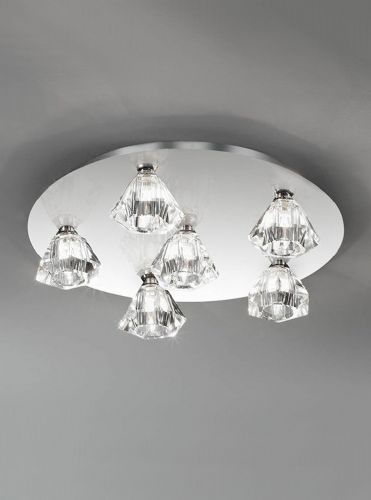 Franklite FL2243/6 Chrome Ceiling Light
